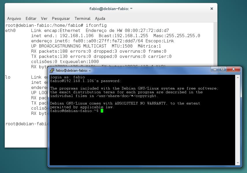 PuTTY - SSH entre Windows e Linux Debian