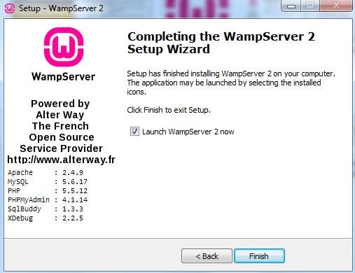 Curso de PHP - WAMP - Finalizar instalação