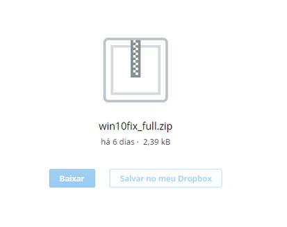 Download do script para reserva do Windows 10