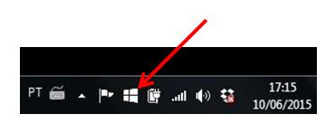 ícone atualização Windows 10 na área de notificação