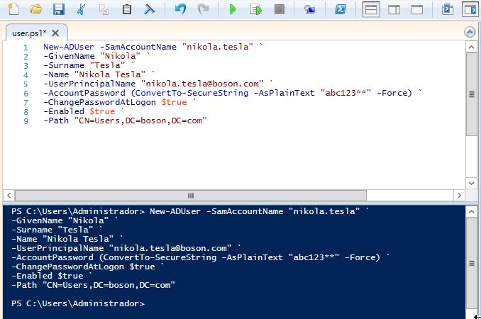 Windows PowerShell - Criar Usuários do Active Directory
