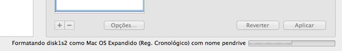 Formatando pendrive de boot Mac OS X Yosemite