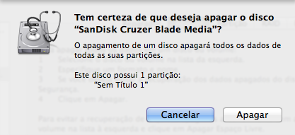 Formatar pendrive de boot Mac OS X Yosemite