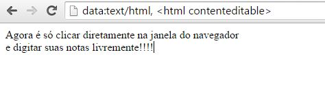 Bloco de Notas no Google Chrome