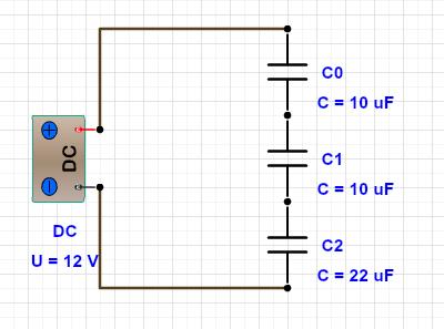 Associação em Série de capacitores
