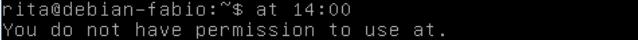agendar tarefas para execução posterior no linux - comando at