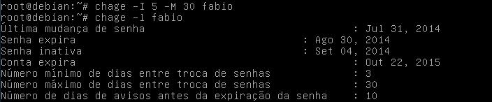 cómo utilizar el comando chage en Linux para cambiar las propiedades de las contraseñas