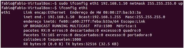 comando ifconfig com nemask no Linux LPI 1