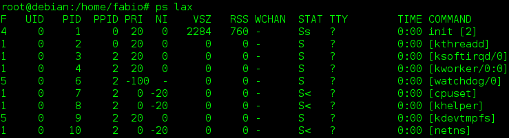 Mostrar los procesos que se ejecuta en Linux con el comando ps