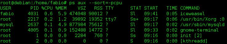 Afficher les processus en cours sous Linux avec la commande ps