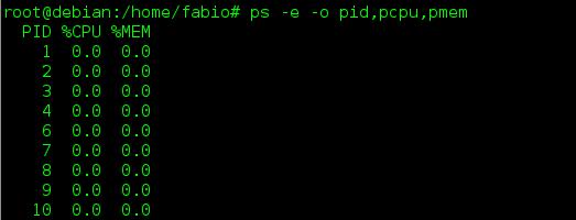 Mostra processos en execució a Linux amb l'ordre ps