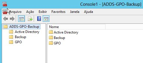 Console Active Directory mais GPO e Backup no Server 2012