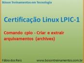 Comando cpio - arquivamentos no Linux
