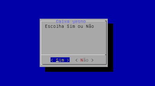 Caixa de diálogo yes no no linux