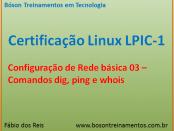 Rede no Linux - comandos dig, ping e whois
