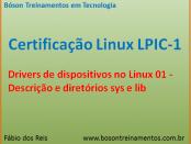 Drivers e diretórios sys e lib - Linux LPIC 1
