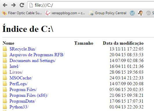 Explorar arquivos no Google Chrome