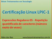 Expressões Regulares no Linux - Repetição quantificada
