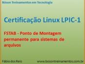 Arquivo fstab - MOntagem de discos no Linux - LPI 1