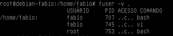 comando fuser no Linux - LPI 1
