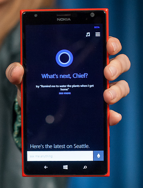 Microsoft Cortana para smatrphones