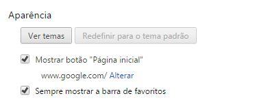 Botão Página Inicial do Google Chrome