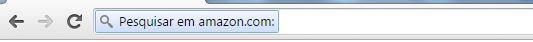 Pesquisar na Amazon usando o Google Chrome