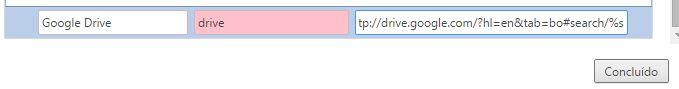 Pesquisar Google Drive no Chrome