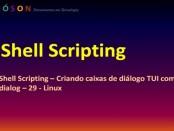 Shell Scripting - caixas de diálogo TUI com pacote dialog