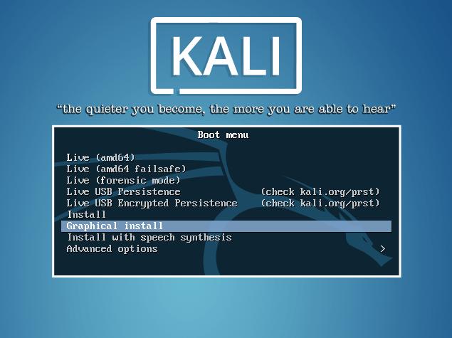 Kali Linux Instalação