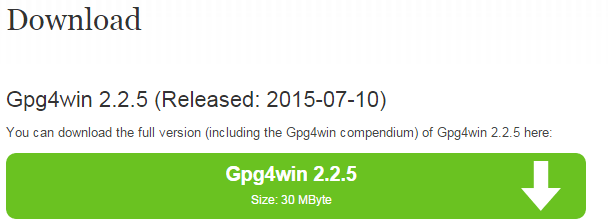 Gpg4Win - Criptografia - download