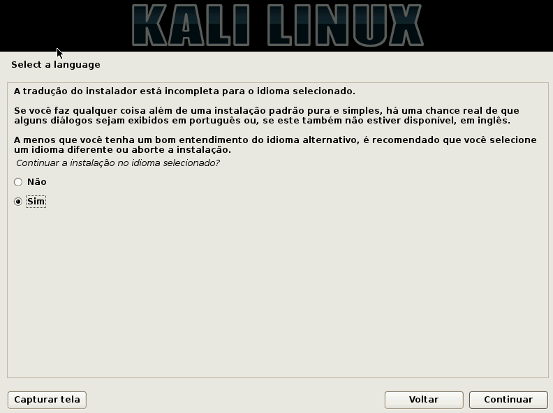 Kali Linux aceitar idiomas