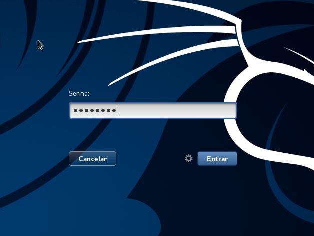 Kali Linux - senha do usuário