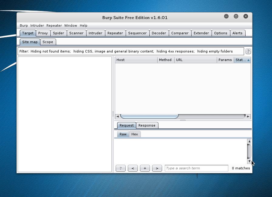 Kali Linux - Burp Suite free edition