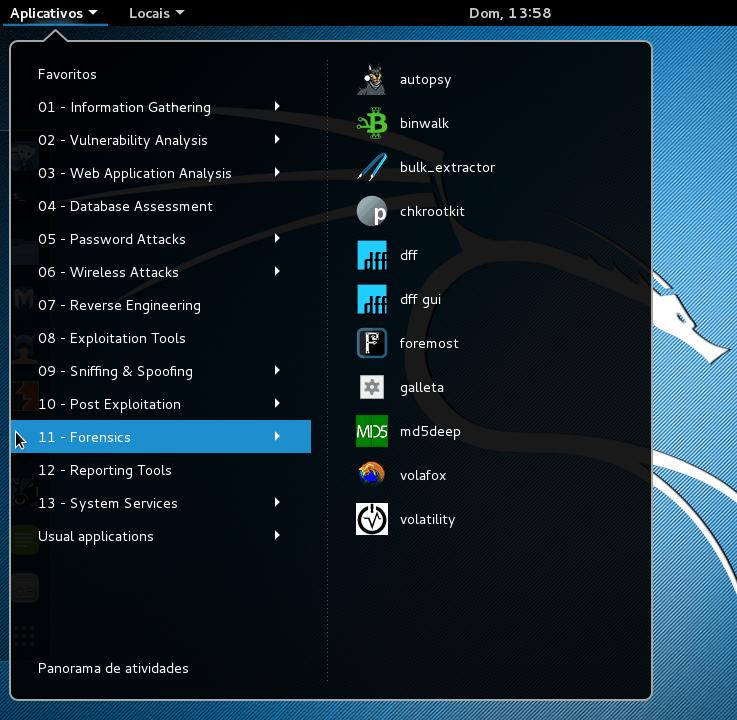 Kali linux - Aplicativos e Ferramentas