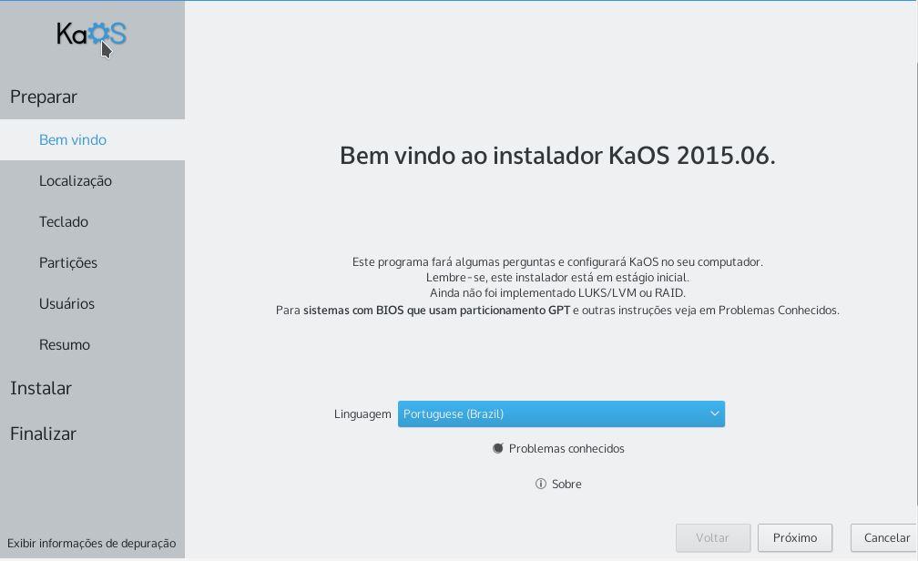 KaOS Linux - Instalador