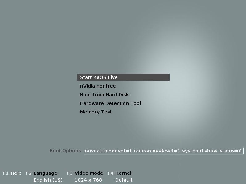 KaOS Linux - Boot Live