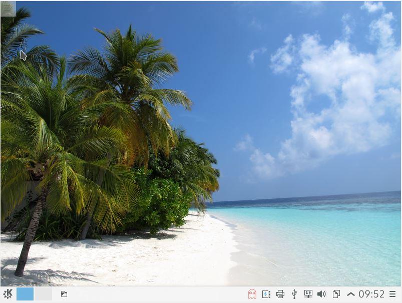 KaOS Linux - área de trabalho