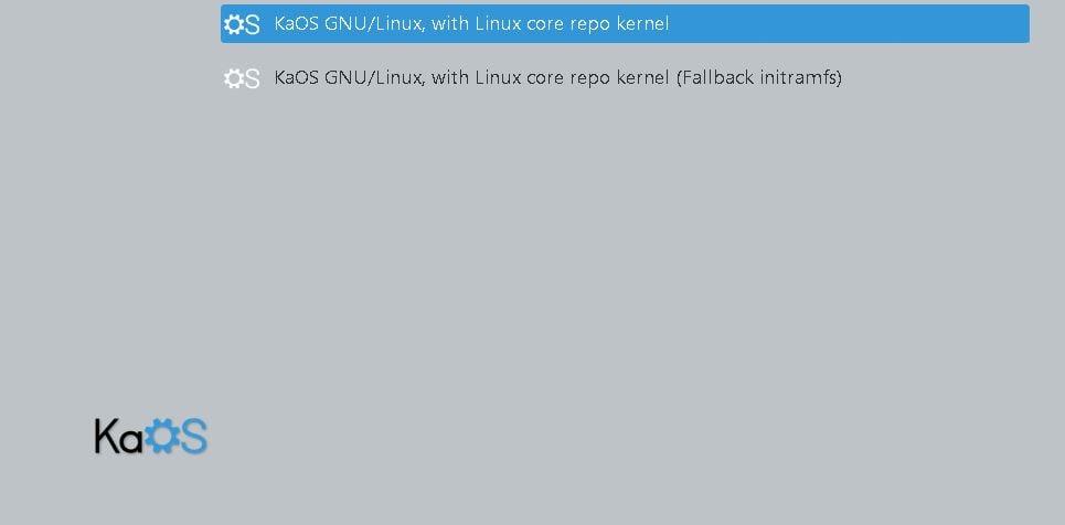 KaOS Linux - iniciar sistema
