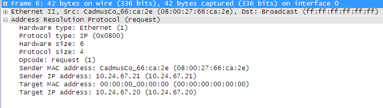 Captura de pacote ARP com Wireshark e análise do protocolo
