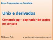 Comando pg no Unix - paginador de texto no console