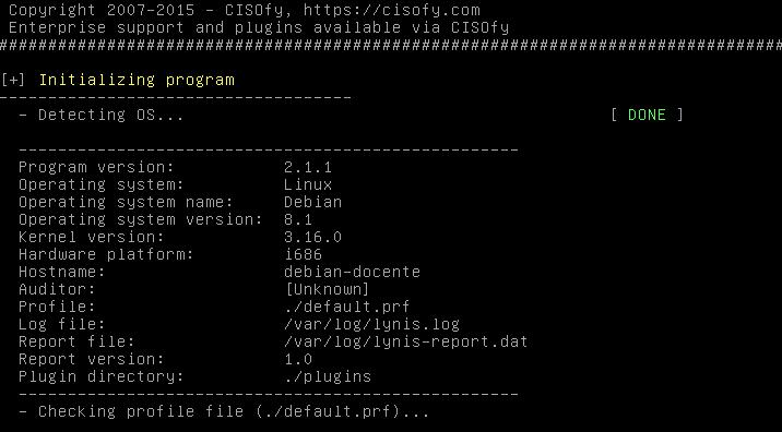 Auditoria de Unix e Linux com Lynis - Teste Rápido
