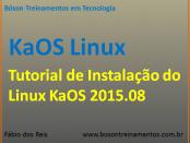 Instalando o KaOS Linux 2015.08