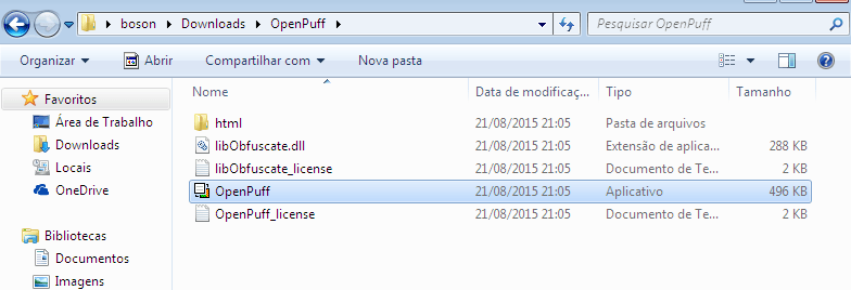 Esteganografia com OpenPuff