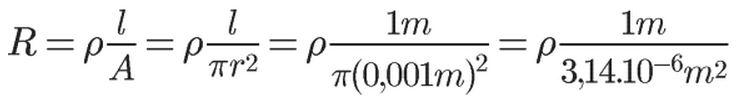 Cálculo de resistividade elétrica