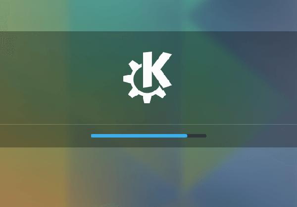 Linux Ubuntu 15.04 com KDE Plasma 5.3 carregando