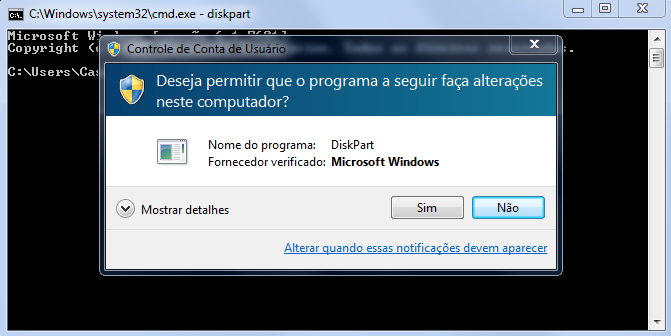 Recuperar partição com Diskpart no Windows