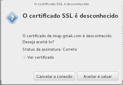 Claws Mail - Certificado SSL