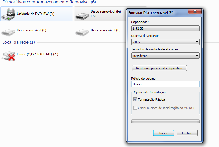 Formatar Pendrive no Windows
