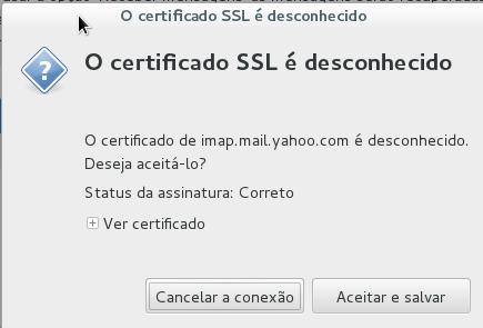 Certificado SSL no Claws Mail